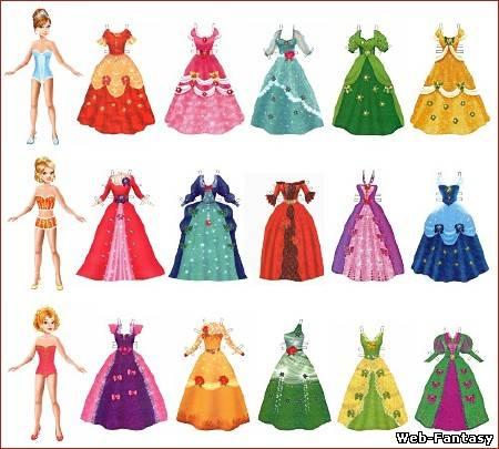 Платье из оригами для куклы